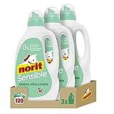 Norit Sensible- Detergente Líquido para Pieles Sensibles y Atópicas, Hipoalergénico - Pack de 3 Unidades de 2120 ml: 6.360 ml