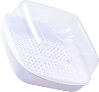 YARNOW Microwave Oven Steamer Cook Container with Lid Plastic for Steamed Bread Bun Dumpling Fish Kitchen Utensil