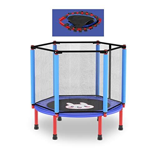 ZXQZ Cama elástica para ejercicios, con red protectora, plegable para niños, para...
