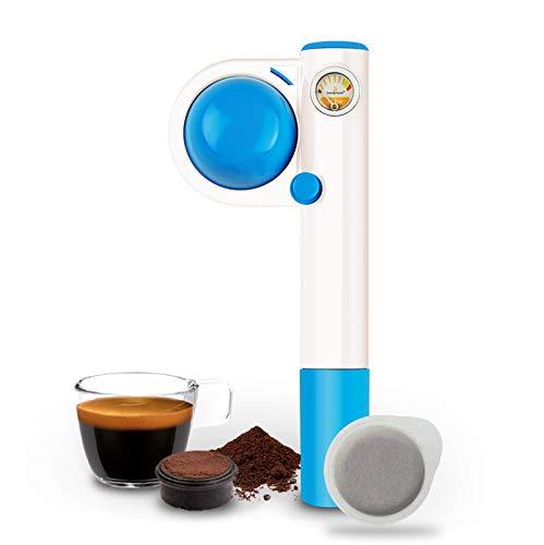 Handpresso - Handpresso Pump Pop hellblau 48268 Espressomaschine, tragbare, manuelle und reise, Pod-Kaffeemaschine ESE oder gemahlenen Kaffee