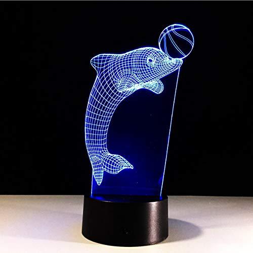 RGB Regalo de iluminación LED WOW Símbolo del juego Acrílico 3D Luz de noche Lámpara de mesa Control táctil Control para el hogar Decoración Niños Niño Regalo de Navidad, D