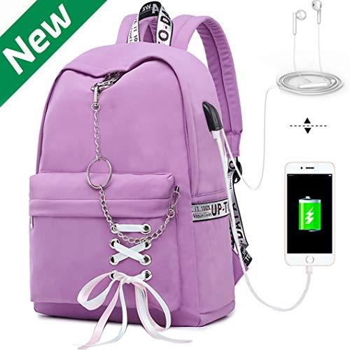 Hey Yoo HY760 Cute Casual Hiking Daypack Waterproof Bookbag School Bag Backpack for Girls Women