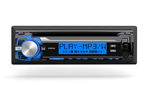 Dual Electronics XDM265 Multimedia Detachable 3.7 inch LCD Single DIN Car Stereo with Built-in CD, USB, MP3 & WMA Player