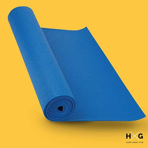 JOWY Esterilla de Yoga Antideslizante, con 173cm x 61cm y con 0,6cm de Grosor es Muy Ligera y portátil, colchoneta Ideal para la práctica de Fitness y Pilates. Tu casa es tu Gimnasio.