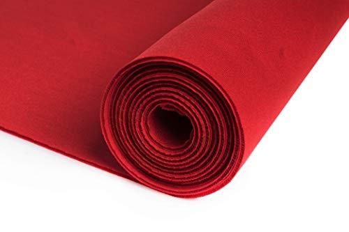 Nurek Scuba Neopren Schaumstoff Dickes Gestrick 50 x 150 cm (Rot)