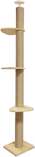 venta con alto descuento Árbol de gato Centro de Actividad Columna de de de Pino Columna de Gato de Madera Maciza Caqui (38  38  270 cm)  hasta un 50% de descuento