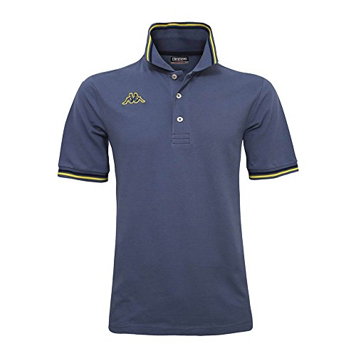 KAPPA - POLO UOMO T-SHIRT PIQUET MARE SPORT TENNIS CALCIO NEW 2017 MALTAX 5 MSS Taglia XXL Colore principale Blue-Yellow-Blue