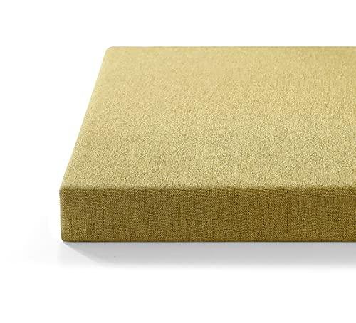 LINGXIYA Cojín de banco de 3/5 cm de grosor, cojín de asiento largo de entrada, cojín de silla lavable, para jardín, patio, comedor, ventana, interior y exterior, 2/3/4 plazas (verde)