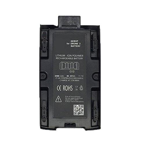 Eleoption Li-ion Batterie 11.1V 2700MAh Drone Bebop 2 FPV pour Parrot Bebop 2 1 sticker blanc +1 autocollant rouge