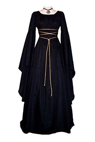Beutyshop Damen Langarm Mittelalter Kleid-Gothic Viktorianischen Königin Kostüm mit...