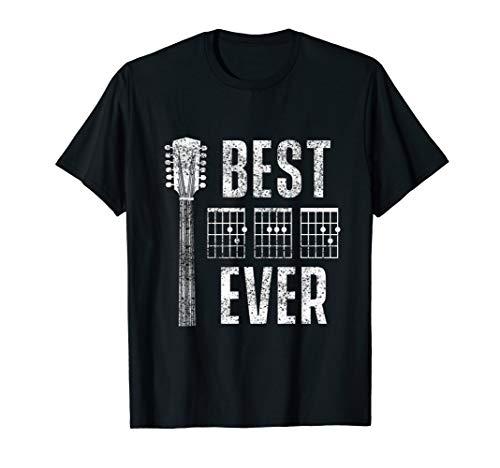 Herren Best Dad Ever Musiker Gitarre Chord Vatertag Band Geschenk T-Shirt
