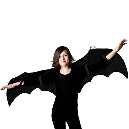 Kids Bat Costume and Pretend Play 52' Wings, Black