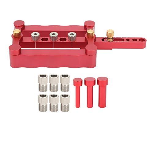 Posicionador de punzón, plantilla de clavija para carpintería, guía de perforación de agujeros de madera, kit de herramientas de localización de punzón DIY, accesorios de carpintería
