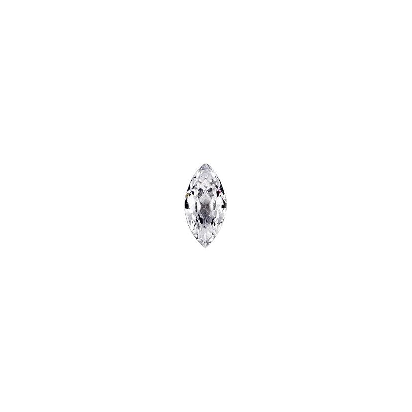 重々しい村ショットラインストーン ジルコニア製 グロッシーストーン【 2.5mm×5mm 】10個入りネイルパーツ ストーン クリスタル Vカット ジュエリー リーフ 模造ダイヤモンド