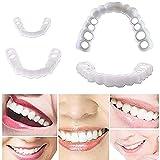 BHHT Blanqueamiento De Dientes Cosméticos Sonrisa Temporal Superior E Inferior Dientes Cosméticos Confort Fit Dientes De Dentadura Etiqueta Cosmética 1 Par