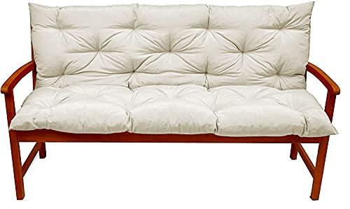 Xpnit - Cuscino per panca da giardino con schienale esterno, 2 3 posti per panca da giardino, per sedie a sdraio e sedie a dondolo (bianco, 100 x 50 x 50 x 50 cm)