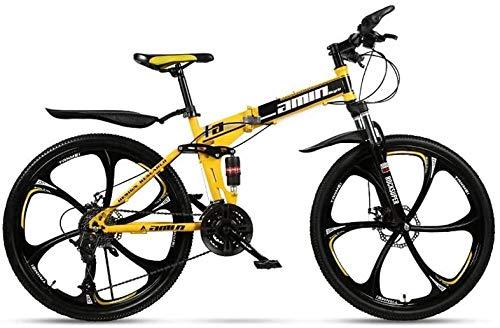 Bicicleta de montaña plegable de 24 velocidades de 24 pulgadas macho y femenino estudiante de velocidad variable doble absorción de choque adulto viajero
