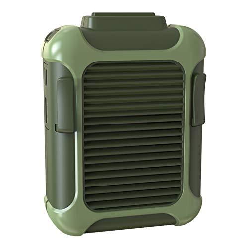 Homyl Ventilador de Cintura Mini USB 4000 MAH com Corda Pendurada No Pescoço - Verde
