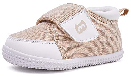 BMCiTYBM Baby Shoes Boy Girl Infant Sneakers Winter Warm Non Slip First Walkers 6 9 12 18 24 Months Brown Size 4