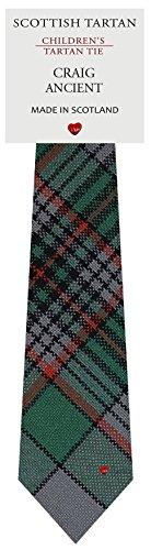 I Luv Ltd Garçon Tout Cravate en Laine Tissé et Fabriqué en Ecosse à Craig Ancient Tartan