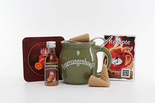 Feuerzangentasse 1er-Set, mit Rum, Oliv - für Feuerzangenbowle