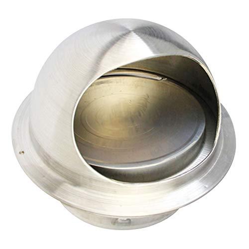 LTLWSH Redonda Rejilla de Ventilación Acero Inoxidable Válvula Antirretorno Salida de Aire para Todos los Sistemas de ventilación de ventilación de Pared,180mm
