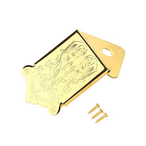 nobrands Samfox Mandolin Gitarren Saitenhalter mit Schraubeninstrument Ersatzzubehör(Gold)