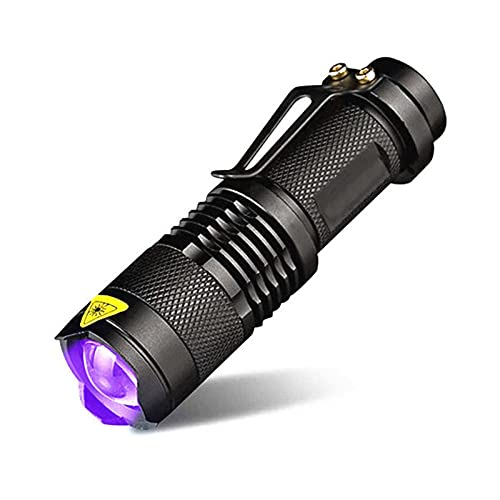 SHENGYANG, Torcia elettrica, Purple Light 365/395 Nm Torcia UV ',' Rilevatore di torcia elettrica UV Blacklight, per animali domestici urina e macchie-black  395