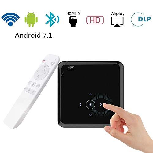 Micro DLP del teléfono móvil del proyector, sistema integrado de Android compatible con Bluetooth Conexión WiFi, batería de gran capacidad, Soporte del juego de la película Home Entertainment ZHNGHENG