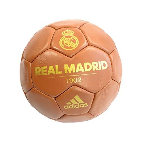Adidas - Balón del Real Madrid, diseño retro, Spanische Primera Liga, color marrón, tamaño 5