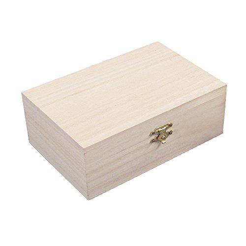 Rayher 62295000 coffret de rangement en bois FSC Mix Credit, 15x10x5,5cm, nature