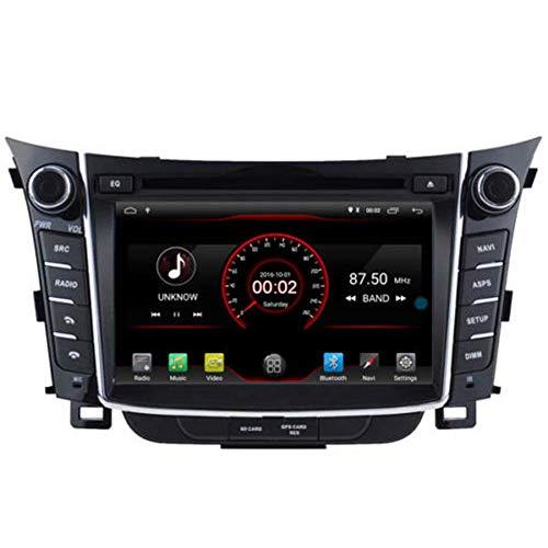 JFFFFWI Android 10 Auto DVD GPS Stereo Head Unit Navi Radio WiFi für Hyundai i30 Elantra GT 2011 2012 2013 2014 2015 2016 2017 2017 Lenkradsteuerung