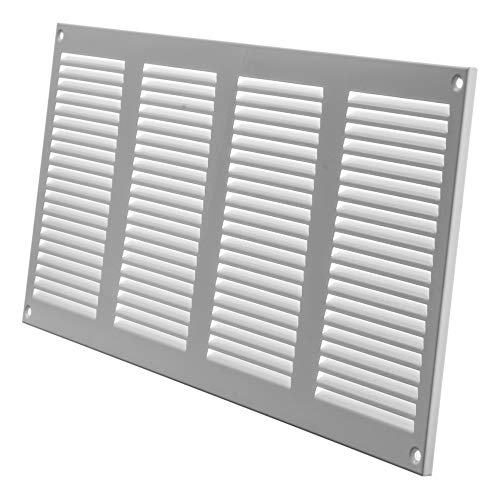Air Vent Cover Steel Return Air Grilles - for Ceiling and Sidewall - HVAC - with Insect Protection Screen (15.74''x7.87'' Inch, White)