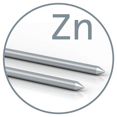 Colloimed Zink-Elektroden 1 Paar für Colloidmaster CM1000 2mm x 80mm (Zn 2x80)