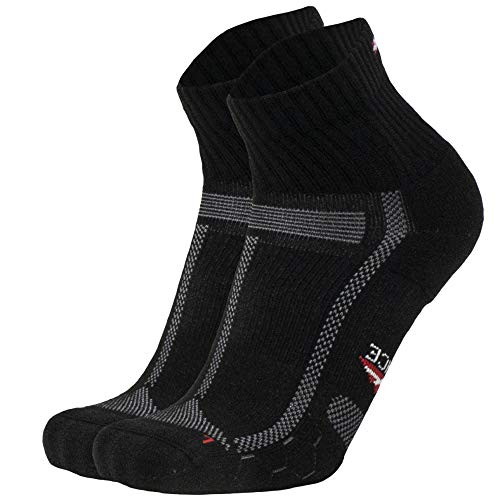Calcetines Running Largas Distancias 1 Par Negro/Gris