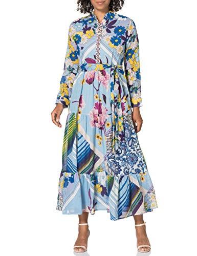 Derhy CAMPAGNARDE Vestido, Azul, 40 para Mujer