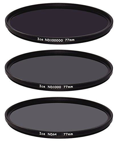 Ice 77mm Set ND2000& ND64Filter Neutral Density ND 20007764& 11Stop Optisches Glas