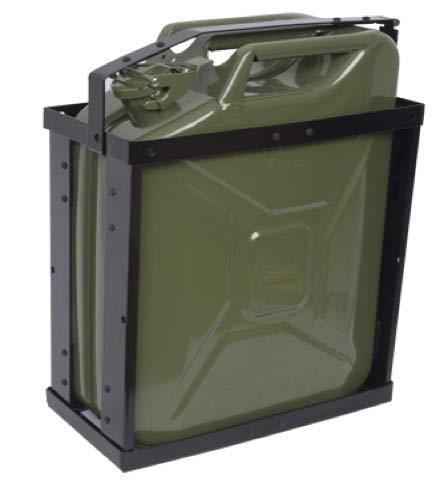 Asc-20 Litre Verde Jerry Cobertor con con Cierre Soporte / Jaula / Soporte - para Combustible Gasolina Diesel Etc (20L 20Lt)