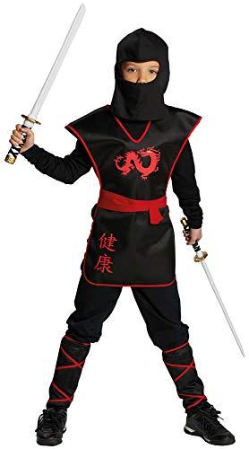 Rubie's 12800-152 Ninja Krieger Jungen Kinder Kostüm Fasching Karneval Verkleiden: Größe: 152