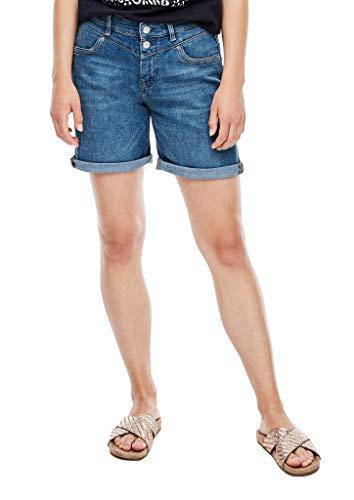 s.Oliver Damen Regular Fit: Jeans-Bermuda blue 34