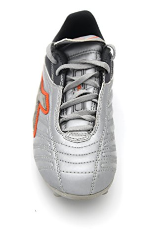 Diadora Kind Jungen Sports FUßBALL Schuhe Gummi Art. 132014 COPPA MD JR 37 EU - 4,5 USA Argento Grigio Antracite Silver Anthracite