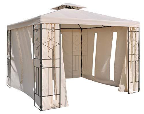 habeig Pavillon Seitenteile mit Fenster & Reißverschluß an jeder Seite 4Stück ohne Pavilliongestell (Beige #34)