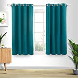 Liiopoz Teal Blue Blackout Curtains 52x63 Inch Long Curtains for Bedroom Living Room 2 Panels Insulated Grommet Window Curtains (52x63 Inch, Teal Blue)
