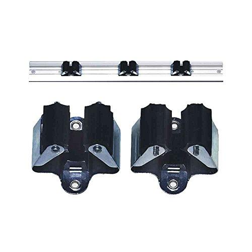 Star 1-35SB Gerätehalter 2 Stück 35 mm mit schwarzen Gummiteilen