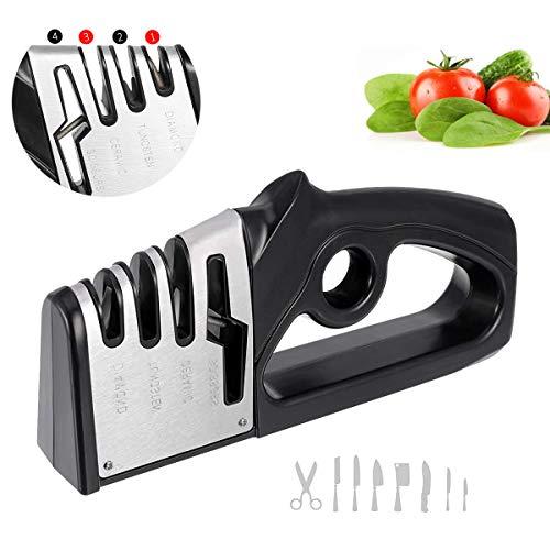 wecan Messerschärfer Diamant-Wolframstahl- und Keramikmesser-Schärfer Machen Sie Küchenmesser oder Scheren aus Edelstahl schärfer für professionelle Küchenchefs oder Haushaltsküchen