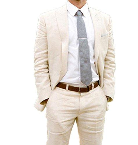 Ivory Men's Peak Lapel Slim Fit 2pc Suit One...