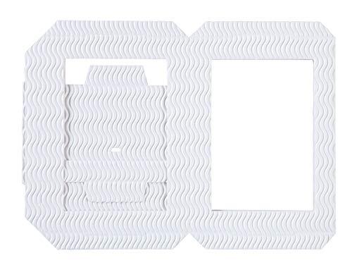 Folia Forma de farolillo, Rectangular, Color Blanco.