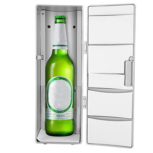 Dpofirs Frigorifero USB Portatile, Frigorifero e scaldavivande con capacità di Due lattine di Bevande per la Barca per Auto da Ufficio