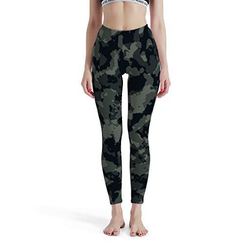 ANVPI dames zwart grijze camouflage schedel druk yoga broek lichte Quick-Dry Capri Comfort Sport Sportbroek Skinny Leg