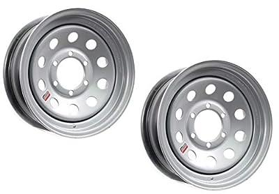 2-Pack Trailer Rim Wheel 16X6 6-5.5 Silver Modular 3760 Lb. 4.27 Center Bore